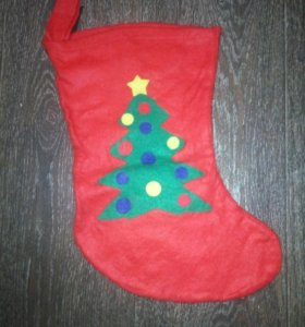 Новогодний рождественский носок