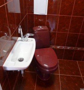 Укладка плитки, ванна санузел под ключ.
