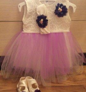 Платье на новорождённую