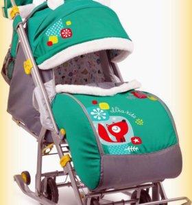 Санки-коляска Ника детям 7-2 коллаж лисички
