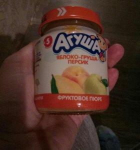 Пюре агуша фруктовое
