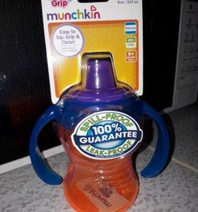 Бутылочка поильник непроливайка munchkin