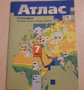 Атлас по географии 7 класс Вентана-граф
