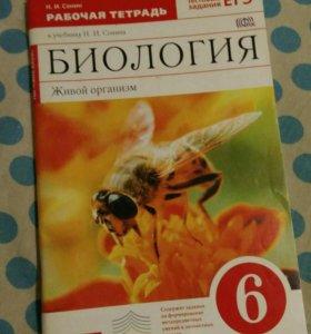 Тетрадь по биологии 6 класс
