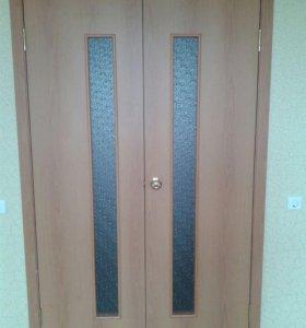 Двери новые двухстворчатые