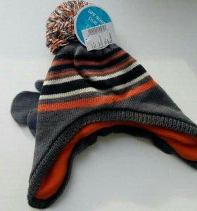 Новый комплект шапочка и варежки