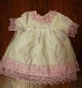 Платье для крещения детское