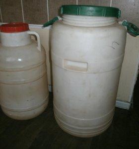 Бочки пластиковые пищевые для воды