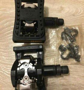 Педали 9/16 алюмин SHIMANO контактные PD-M505 с на