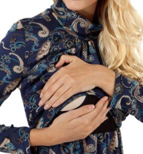 Осенне/зимнее платье для беременных и кормящих