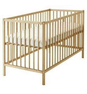 Кроватка детская матрас и бортики икея