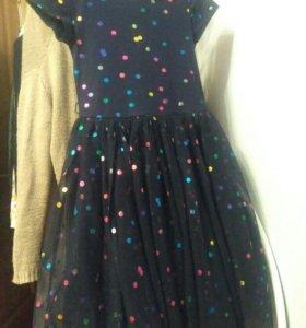 Нарядное платье, рост 146