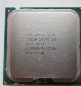 Процессор Intel Core 2 Duo E8400 сокет 775 3.0 GHz