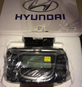 Штатная магнитола Hyundai Solaris.