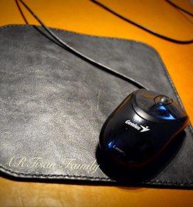 Коврик для компьютерной мышки из натуральной кожи