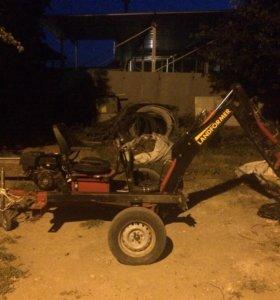 Прицепной мини экскаватор landformer 100
