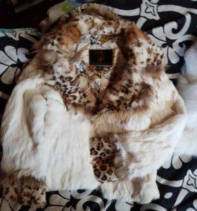 Куртка меховая кролик 38размер