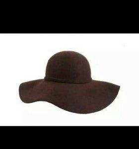 Новая шляпа коричневая