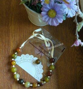 Колье, бусы, ожерелье из натурального камня