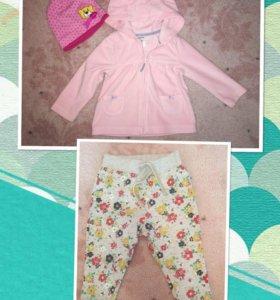 Вещи для девочки р 80 (пакет)