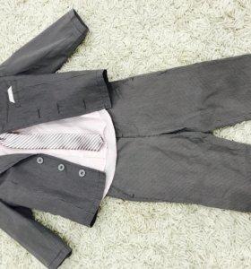 Комплект для мальчика 4ка пиджак брюки рубашка га