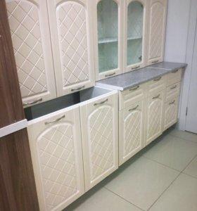 Кухня Хлоя 2000 лён белый