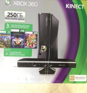x-box 360 + Kinect + 6 игр(3 kinect, 3 приставки)