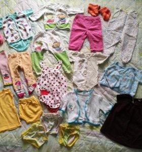Вещи на девочку пакетом (до 6 месяцев)