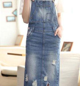 джинсовый сарафан-новый