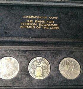 Монеты в кейсе(оригинал СССР)
