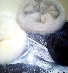 Резинки для волос из меха норки.