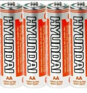 Батарейки пальчиковые AA - Hyundai