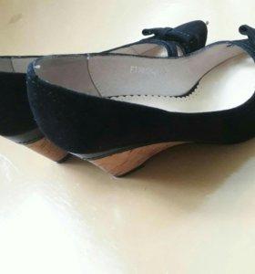 Туфли нат.замша 33 размер