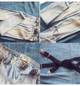 Женские джинсы/подтяжки