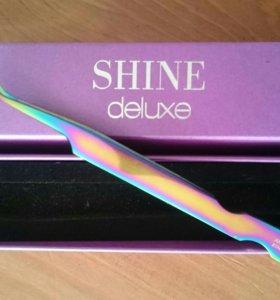 Пинцет Shine deluxe для наращивания ресниц