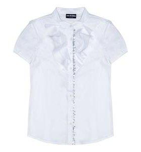 Блузка новая белая acoola для девочки 128 размер
