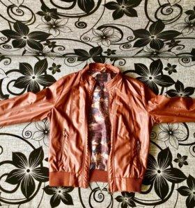 Куртка коженая, осень