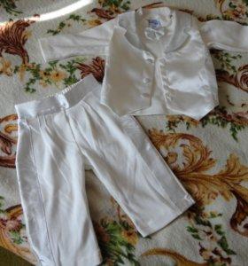 Нарядный костюмчик на малыша от 3-6 месяцев