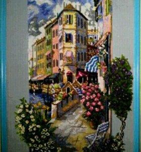 Картина крестиком,, Цветущий город!,,