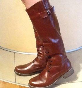 Новые зимние  кожаные сапоги размер 38