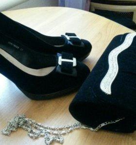 Туфли, клатч