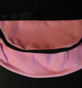 Сумка поясная розовая новая, в упаковке. СУПЕРЦЕНА