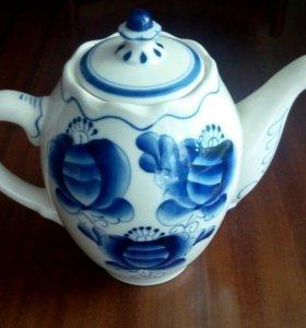 Чайник Гжель