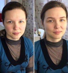 Оформление бровей краской и хной