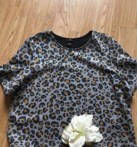 Кофта свитшот  леопардовый принт , H&M