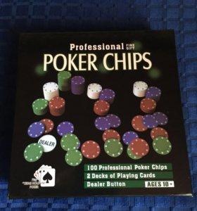 Набор для игры в покер + карты