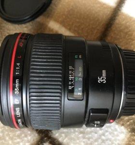 Canon EF 35 f 1.4 L