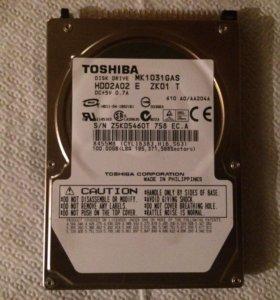 Жеский диск на ноутбук 100GB ide