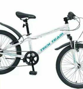 """Велосипед Tech Team Calibri 20"""" 6 скоростей черный"""
