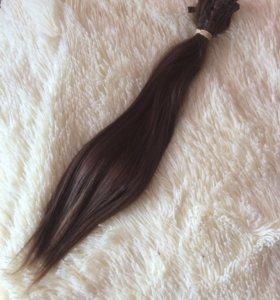 Продам натуральные волосы в капсулах40см:100прядей